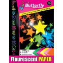 Butterfly A4 Paper Pad - Flourescent - 50 pg