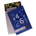 Croxley A4 PVC Clear Book Covers 140mic 5's