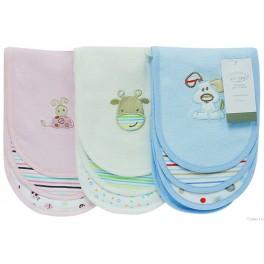 Burp Cloths - Set of 3 - Cute Creatures