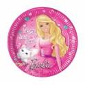 Barbie Sparkle Paper Plates 23cm (8's)