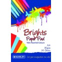Marlin A4 paper pad 50 sheets 80gsm Bright assorted