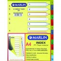 Marlin File dividers / indexes Polyprop: 12 position printed 1-12
