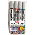 Pentel Maxiflo White Board Markers Wallet of 4