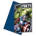 Avengers Assemble Multihero Invitations with Envelopes (6's)