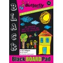 Butterfly A3 Board Pad - Black - 20 sheet