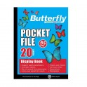 Butterfly A5 Pocket File 20 page