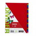 Meeco Indexes 180 Micron Multi Colour 1 - 31 Printed