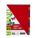 Meeco Indexes 180 Micron Multi Colour Jan - Dec Printed