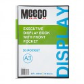 Meeco Executive A3 Display Book With Front Pocket Black