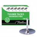 Drawing Pins 11mm Silver 100s