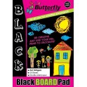 Butterfly A4 Board Pad - Black - 20 sheet
