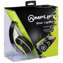 Amplify Headphones With Mic Series Low Ryders Black & Lime