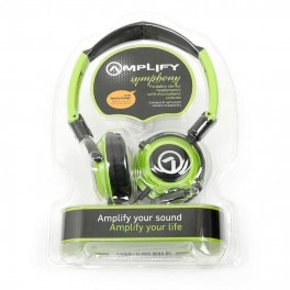 Amplify Symphony Headphones With Mic Black & Green