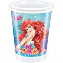 Ariel - The Little Mermaid Plastic Cups 200ml (8's)