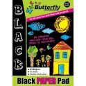 Butterfly A4 Paper Pad - Black - 50 pg