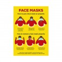Face Masks Poster A0 - Yellow