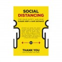 Social Distancing Poster A0 - Yellow