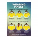 Mask Poster A1 - Blue - Set of 3