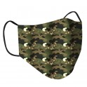 Clinic Gear Boys Printed Reusable Protective Face Masks Camo