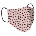 Clinic Gear Girls Printed Reusable Protective Face Masks Hearts