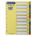 Marlin File Dividers Polyprop - 10 pos